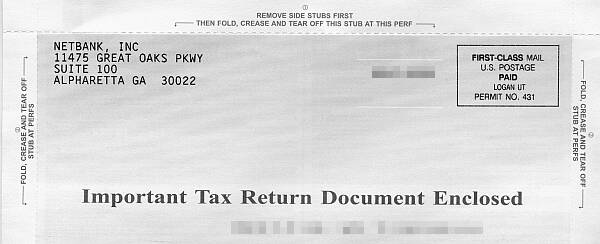 Tear-off Tax Envelope